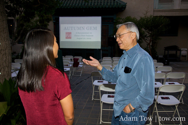 Talking with Franklin Fung shortly before the screening.