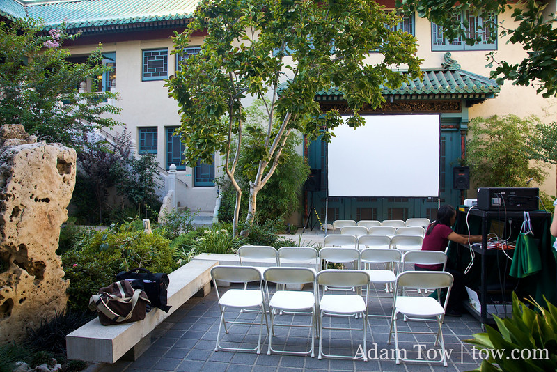 A view from the back. The Pacific Asia Museum is a fantastic venue for film screening!