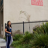Rae outside the Pacific Asia Museum, where we held a screening of Autumn Gem on August 21, 2009.