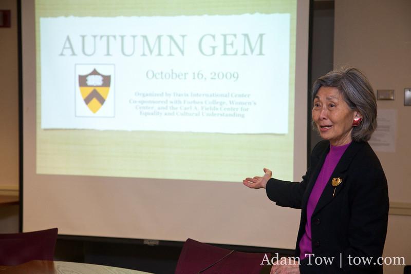 Paula introduces us at the Autumn Gem screening at Princeton University.