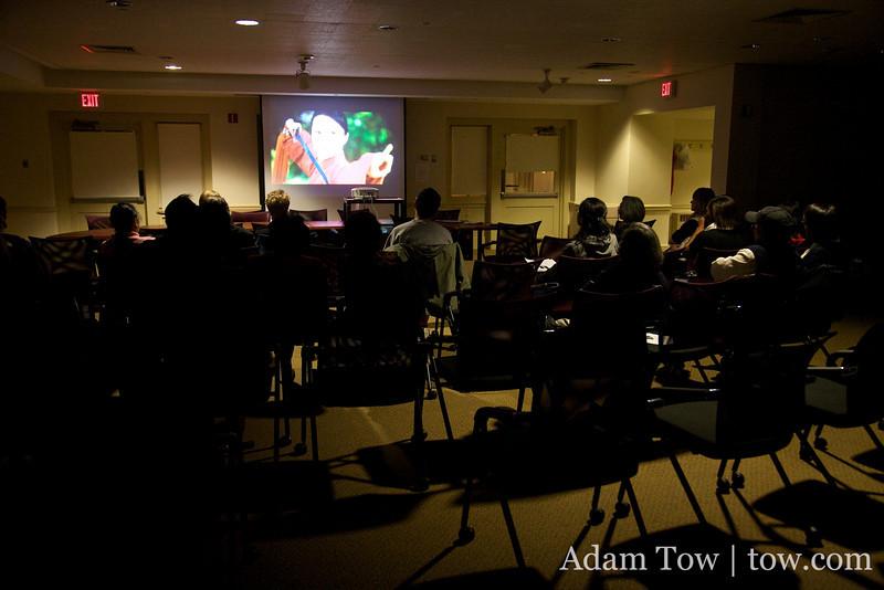 Watching Autumn Gem at Princeton University on October 16, 2009.