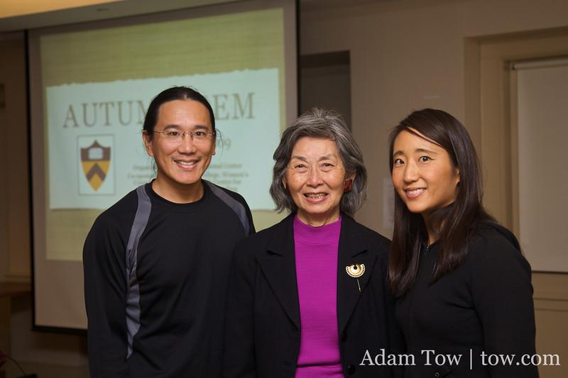 Adam and Rae with Paula Chow.