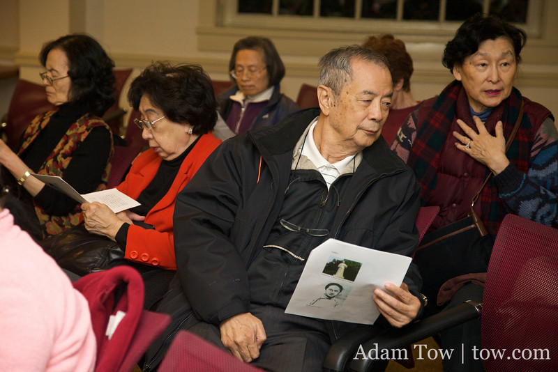 Reading up on Qiu Jin before the screening.