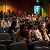 The crowd was comprised of mostly RMIT University students.