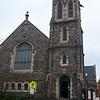 Outside St. John's United Methodist Church.