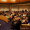 Packed to capacity was the City Council Chambers.