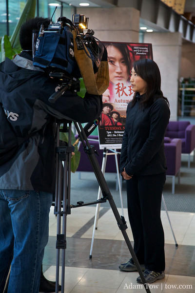 Rae gives an overview of Autumn Gem to Omni TV Channel 8 in Richmond, British Columbia.