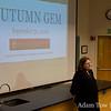Barbara Molony, History Department Chair, introduces Autumn Gem at Santa Clara University.