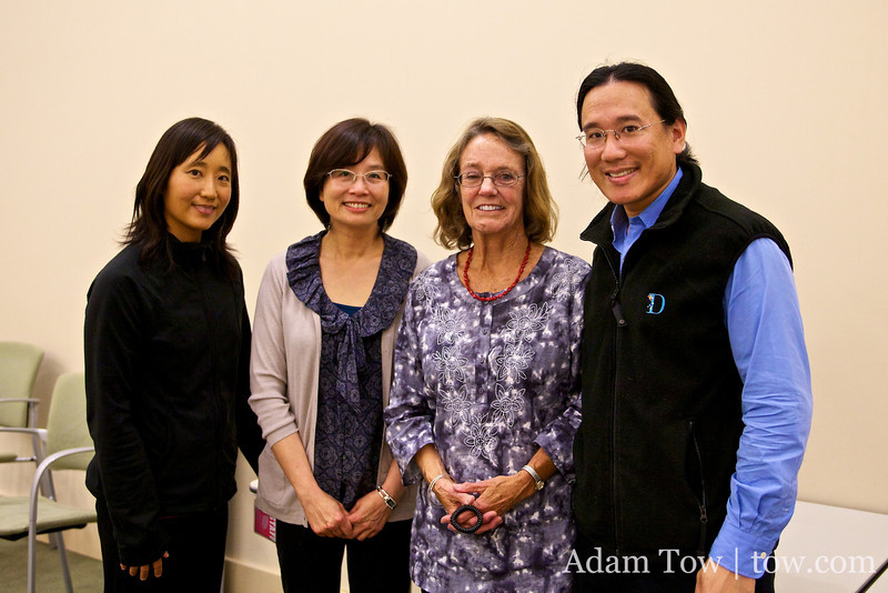 With the organizers of the Santa Clara Library screening.