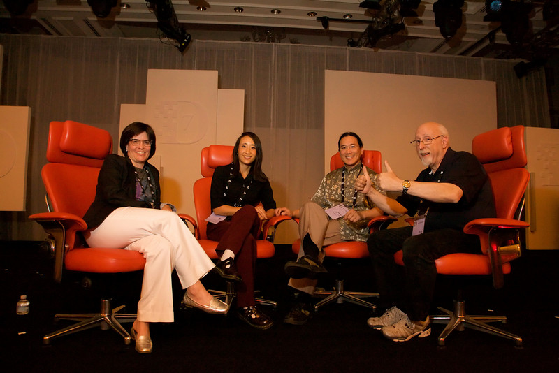 Adam and Rae with the producers of the D7 Conference, Kara Swisher and Walt Mossberg. Walt gives the film two thumbs up.