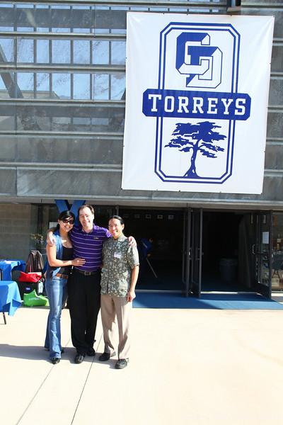 Faye, Barrett, and Adam, back at their own high school