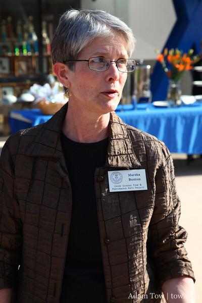 Mrs. Boston, my former Art teacher