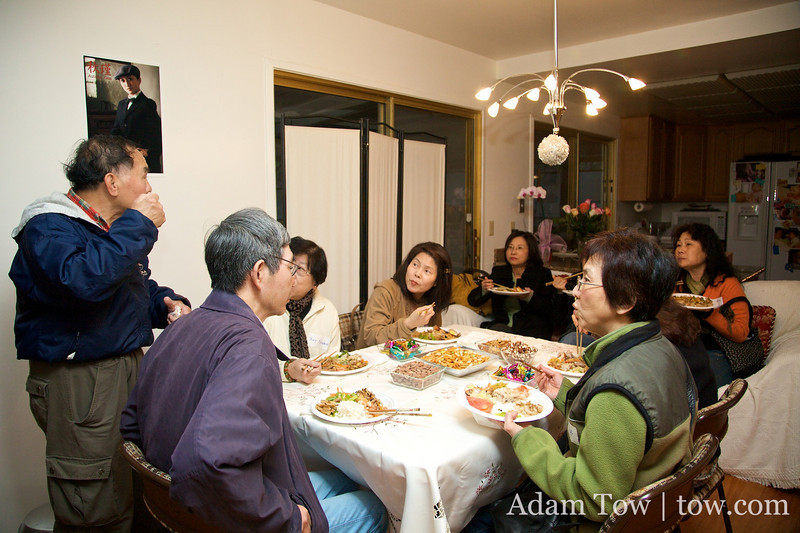 Mr. Chang talks to the guests.
