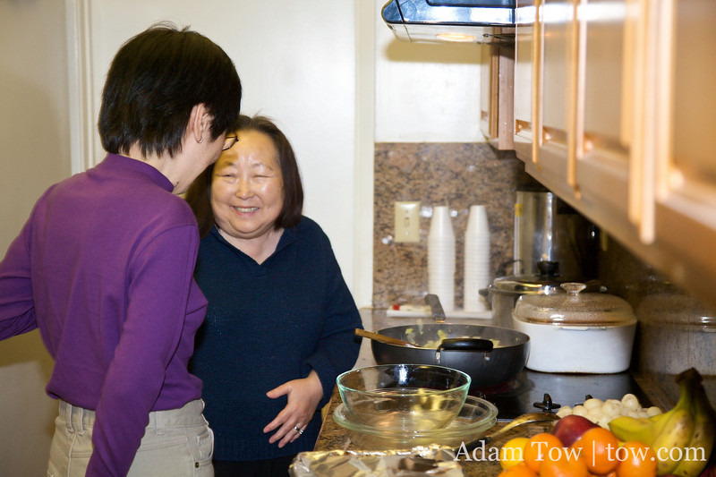 Mrs. Chang shows off her culinary skills.