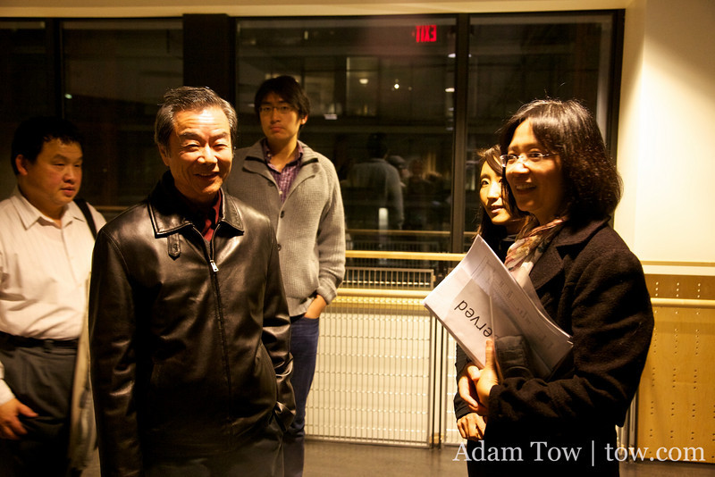 Henry Ng arrives. He was instrumental in getting the great turnout at the SFU screening.