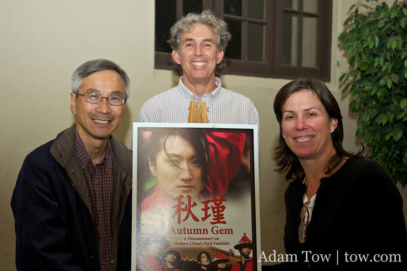 With the organizers of the Autumn Gem screening at the South Pasadena Public Library.