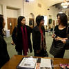 Members of the South Pasadena Chinese-American club talk with Rae.
