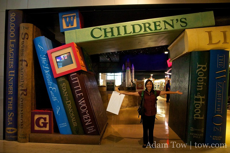 The entrance to the Children's Library at the Cerritos Public Library.