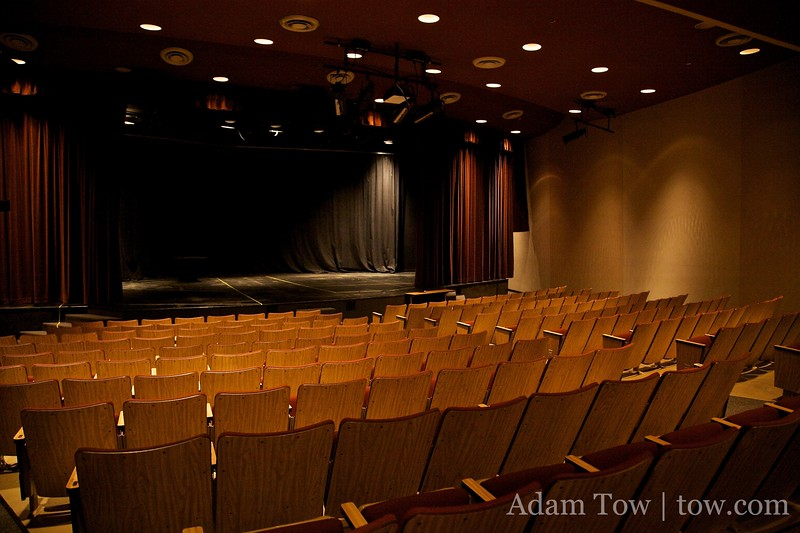 Inside the auditorium.