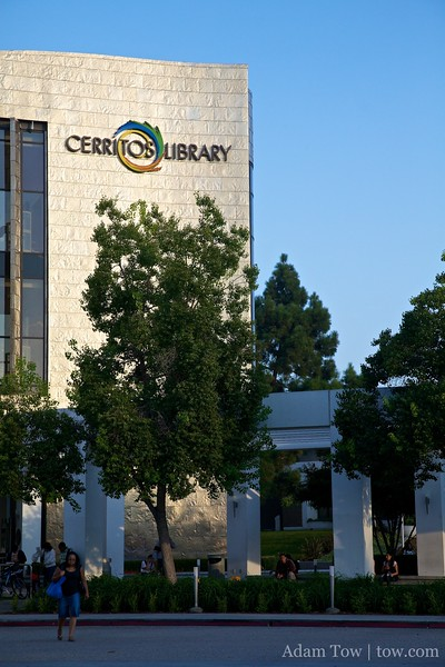 The Cerritos Public Library, the most impressive public library we've seen to-date!