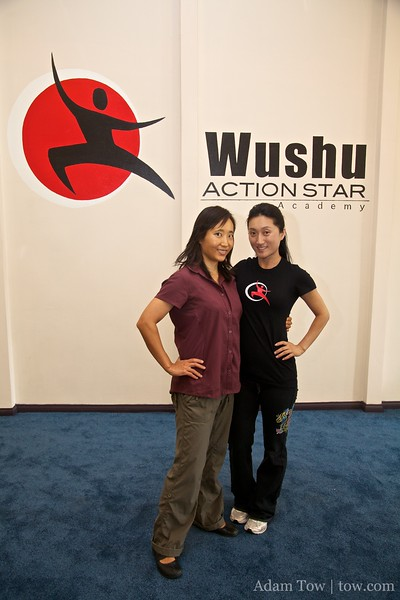 Visiting Li Jing at her new Wushu school, Wushu Action Star Academy.