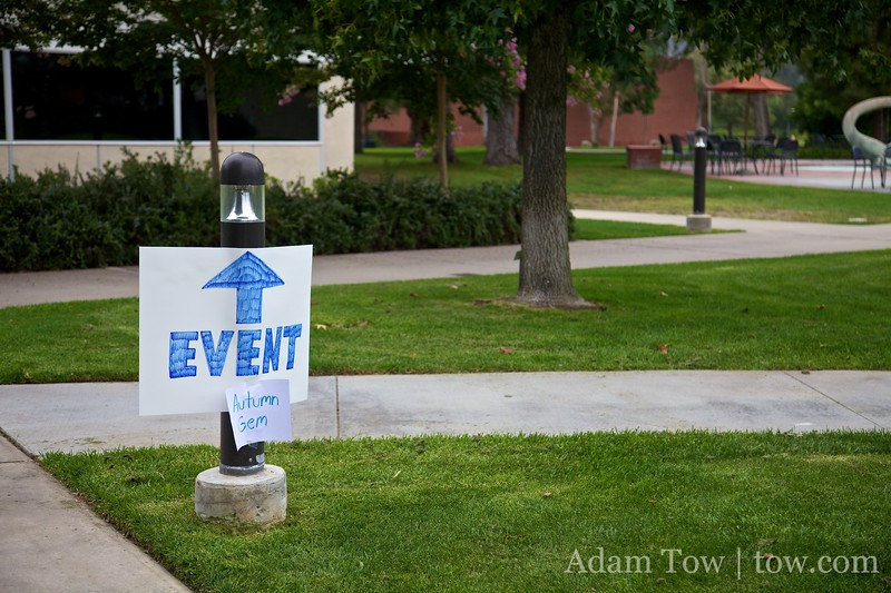 Follow the signs to our screening!