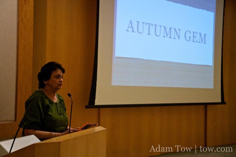 Padmimi introduces us at the Cerritos Public Library screening.