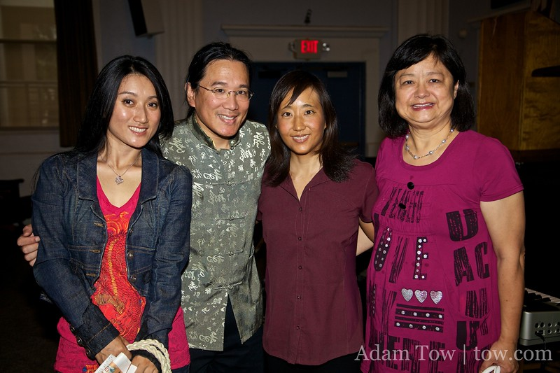 With Li Jing and Nancy Chen, the organizer of our screening in San Marino.