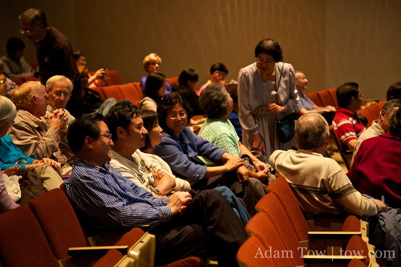 Community members and students before the screening of Autumn Gem.