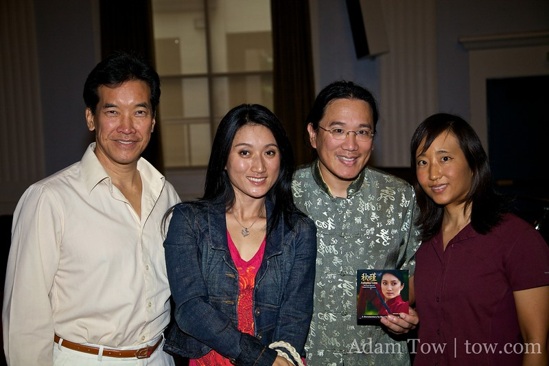 With Peter Kwong and Li Jing following our San Marino screening of Autumn Gem.