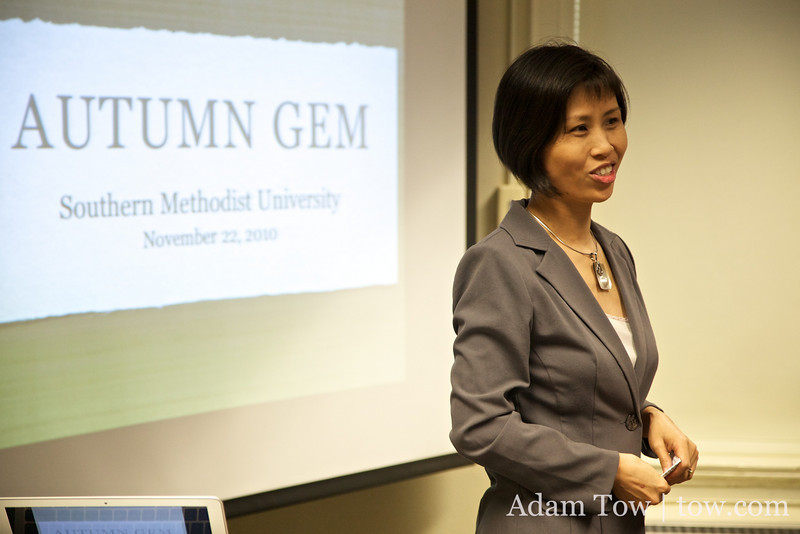 Introducing Qiu Jin, Autumn Gem, and Adam and Rae to the screening.