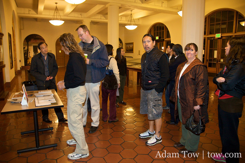 Guests arriving at the Autumn Gem screening at Stanford University.