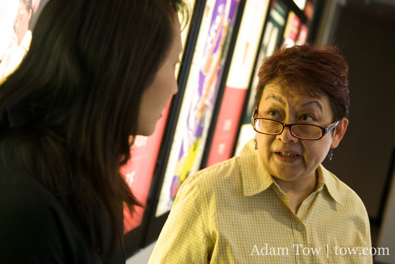 Professor Iona Man-Cheong talks with Rae before the screening.