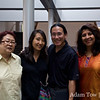 With Professors Man-Cheong and Mukhi before the screening at Stony Brook.