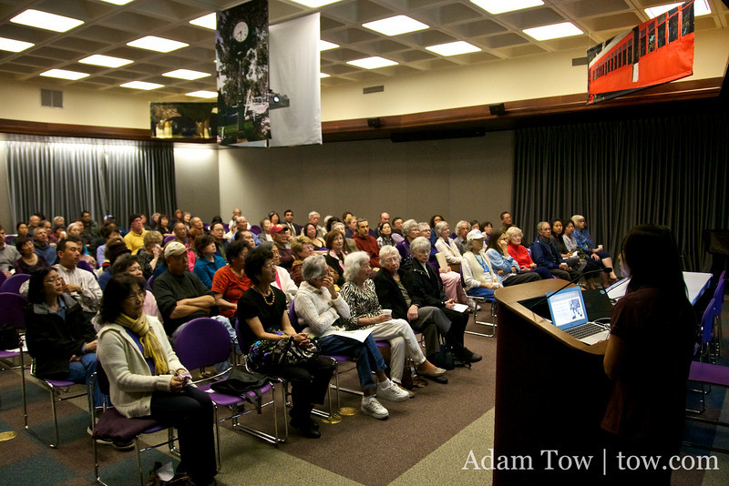 There were over 120 people in attendance at the screening of Autumn Gem in Torrance.