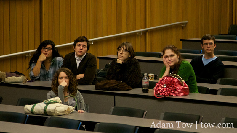Students at the Autumn Gem screening at Trinity.