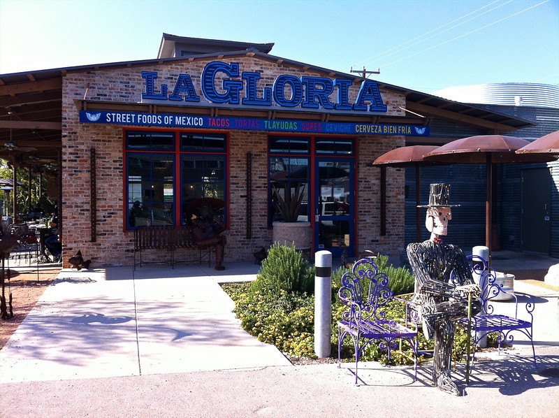 Great lunch at La Gloria, a Mexican Street Food restaurant.