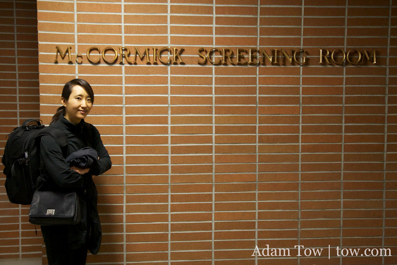 Rae stands outside the McCormick Screening Room, site of the Autumn Gem screening at UC Irvine on March 2, 2010.