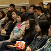 Listening to the presentation during the Autumn Gem screening.