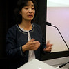 Professor Hu Ying answers a question from the crowd.