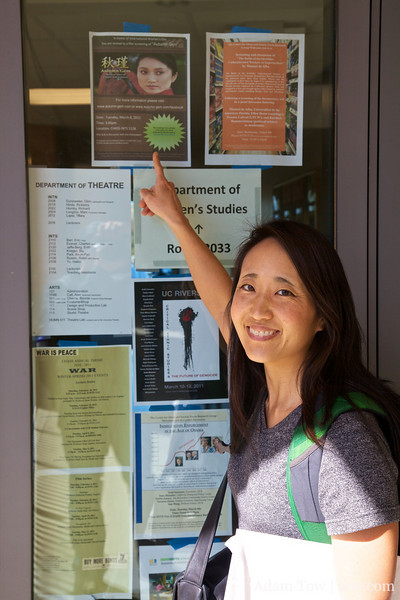 Rae points to an advertisement for Autumn Gem.