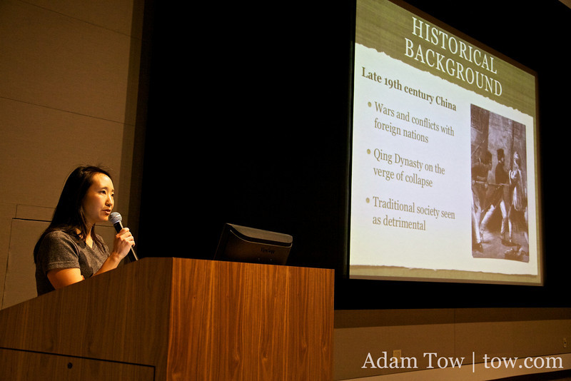 Rae gives her introductory presentation.