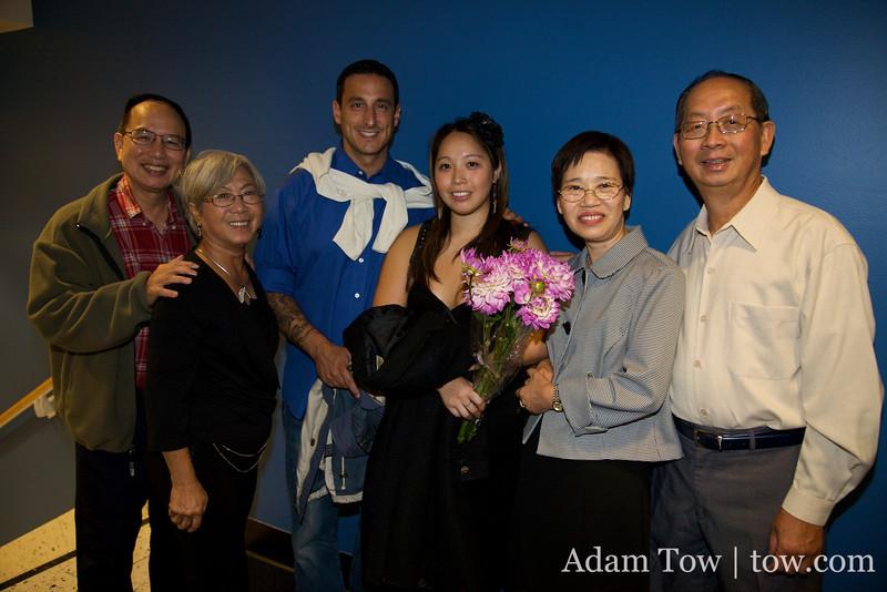 Leung family with Adam's parents.