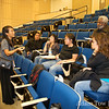 Rae talks with UCSF workers who watched the film.