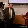 Talking with community members and graduate students following the screening.
