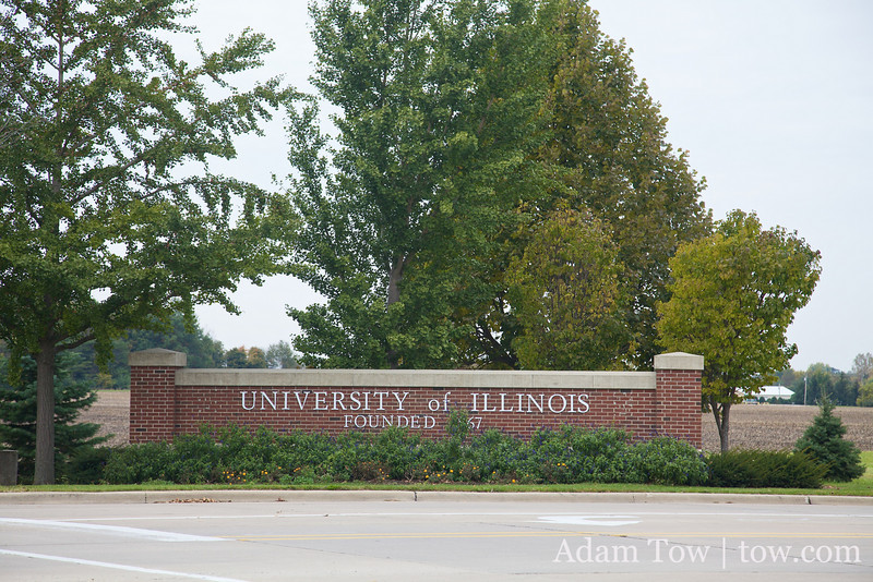 Arriving at the University of Illinois Urbana-Champaign.