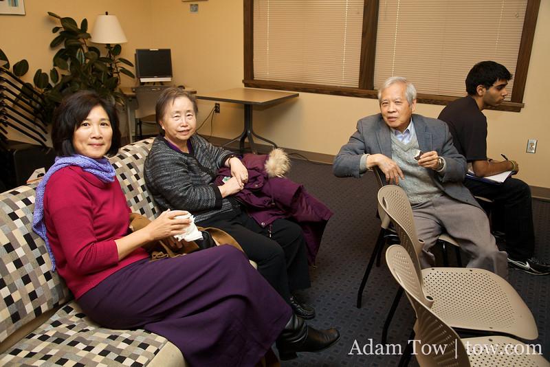 Lolita, Mu-chin, and CC before the screening.
