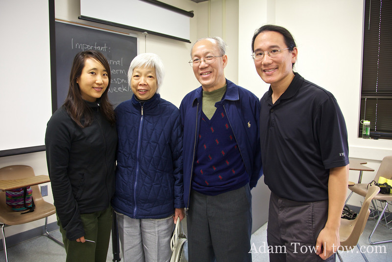 With Mr. Kan and his wife following the screening.