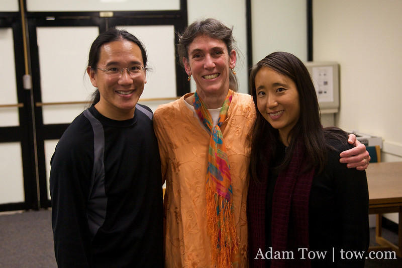 Adam and Rae with Rebecca McGinnis from the Confucious Institute at the University of Maryland, College Park.