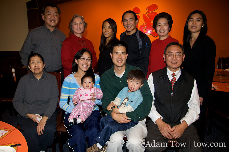 Group shot at Wong Gee Restaurant in Wheaton.